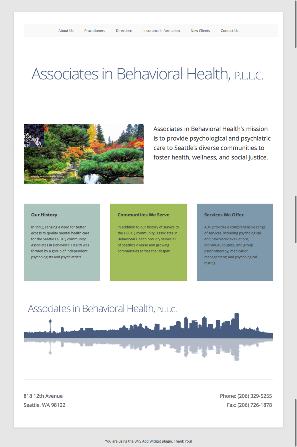 Associates in Behavioral Health, P.L.L.C.   Healthy individuals, relationships, and community
