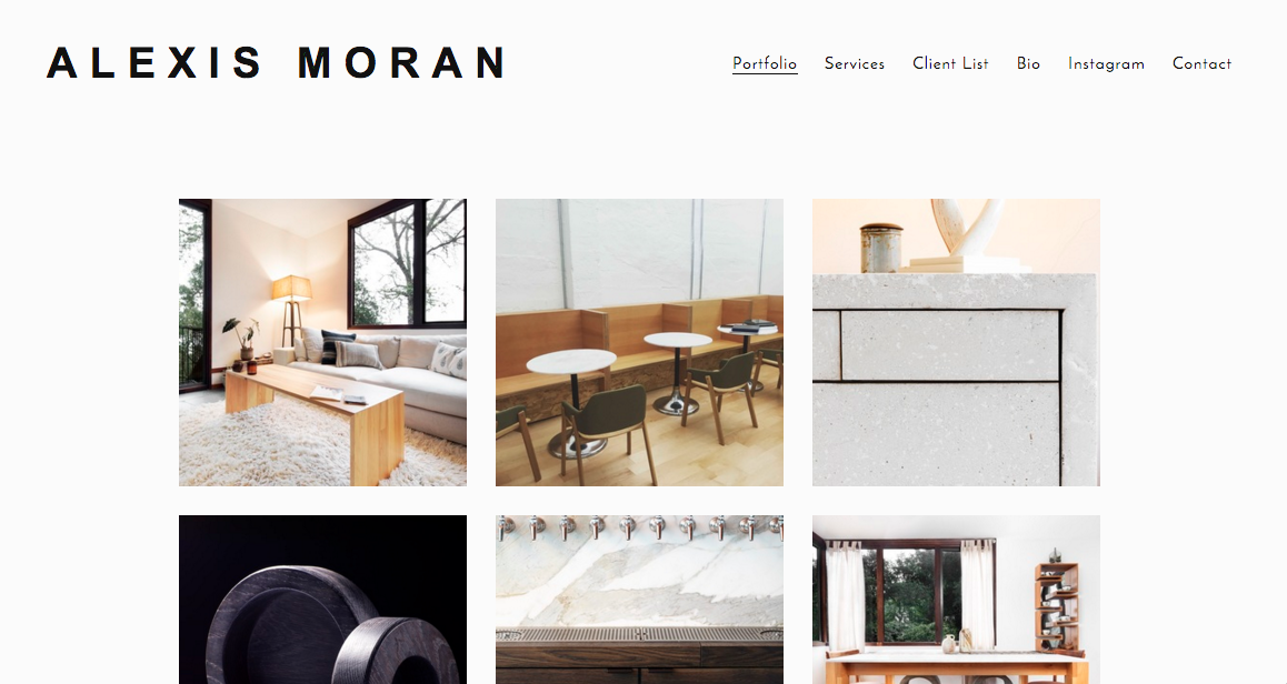 Squarespace Design For A Local Bay Area Furniture Designer Based In Orinda.  The Client Needed A Quick, Clean, Responsive Site Made In One Day And We  Were ...