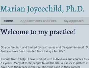 Home Marian Joycechild Ph.D.