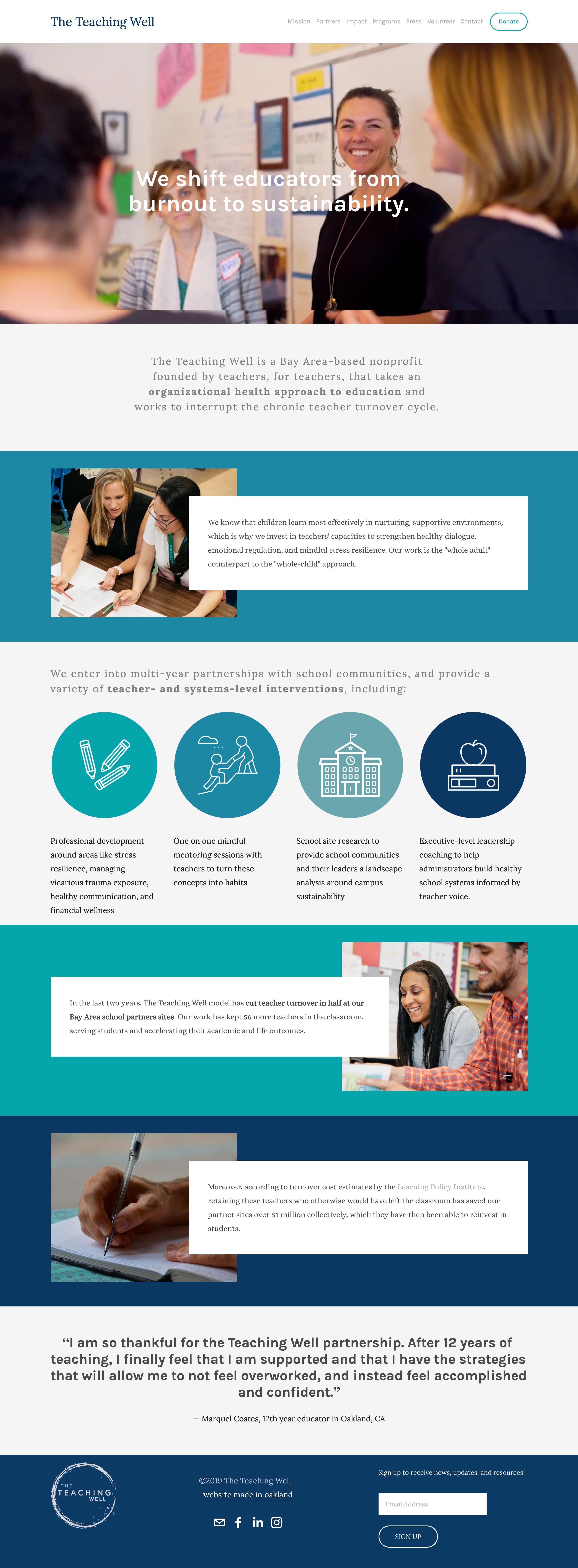 nonprofit education website bay area