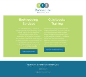 oakland bookkeeper website design