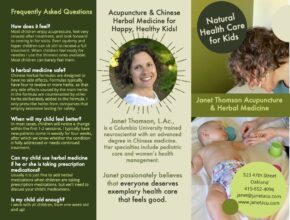pediatric acupuncture brochure design